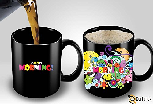 Good Ideas For Halloween (Heat Sensitive Mug | Color Changing Coffee Mug | Funny Coffee Cup | Good Morning Magic Mug | Birthday Gift Idea for Him or Her, Mother' Gift for Mom and Father's Day Gift for Dad)