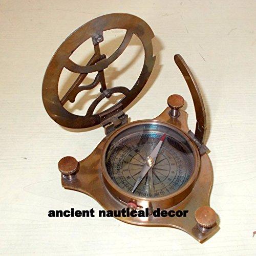 Nautical真鍮Westロンドン日時計コンパスMarine workingポケットコンパスギフト3