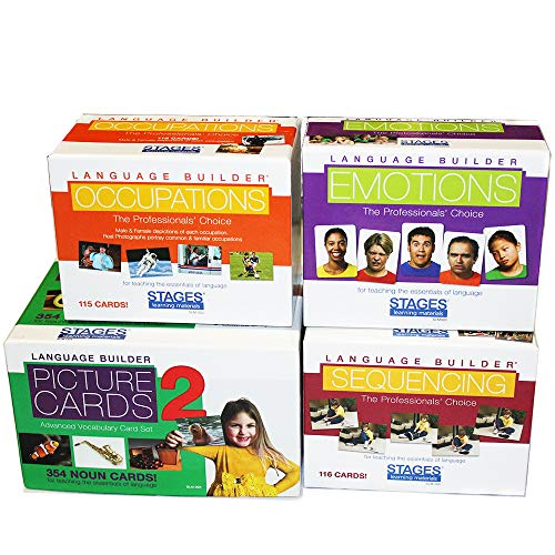 Language Builder 4-Box Follow Up Kit (Nouns 2, Sequencing, Emotions, and Occupations flash card sets) ()