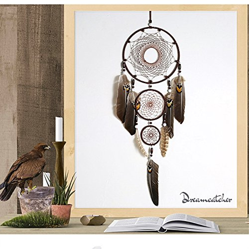 Karleksliv Three circles Dreamcathers large home ornaments Old Indianness Home Garden Furniture Decor Decorative Dream Catchers an ancient mysterious valentine's day gift BMW087 by Karleksliv