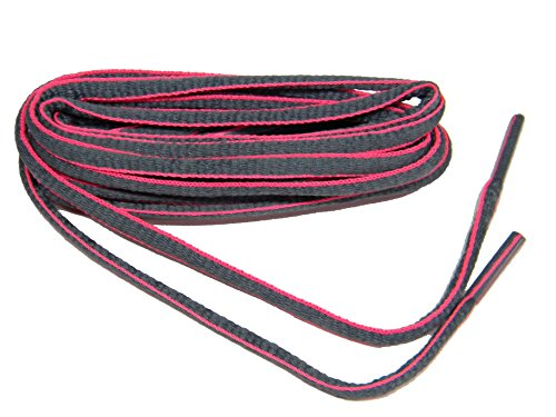 45-Inch-Grey-w-Pink-Oval-proATHLETICtm-sneaker-Laces-Shoelaces-shoestrings-2-pair-pack