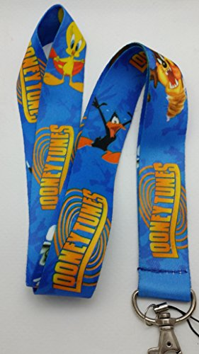 looney-tunes-buz-bunny-taz-donald-duck-print-lanyard-key-chain-neck-strap-id-badge-holder
