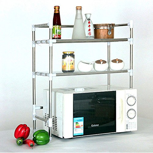OKOKMALL US--Kitchen Baker's Rack Utility Microwave Oven Stand Storage Workstation Shelf NEW by OKOKMALL US