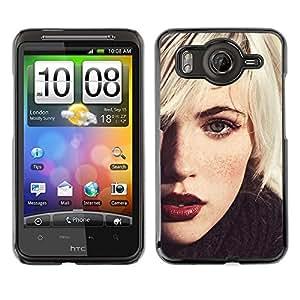 Cubierta protectora del caso de Shell Plástico    HTC G10    Rubio Hipster Chica @XPTECH