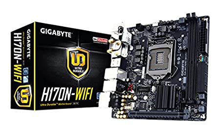 Gigabyte LGA1151 Intel H170 Mini-ITX DDR4 Motherboard GA-H170N-WIFI Motherboards at amazon