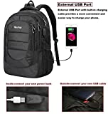 Travel Laptop Backpack, Durable Business Slim School Backpack with USB Charging Port,Anti theft Water Resistant Polyester backpack for women & men ,College Backpack for 17 Inch Laptop and Notebook