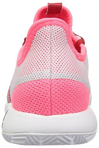 adidas Women's Adizero Defiant Bounce Tennis Shoe Flash red/White/Scarlet 6 M US by adidas (Image #2)