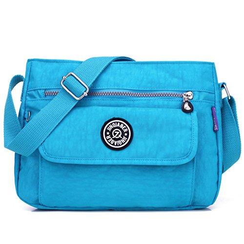 Cross Purses TianHengYi T1 Casual Bag Sky Lightweight Handbags Multi Small Blue Girls amp; Shoulder Pockets Nylon body rII6OnH