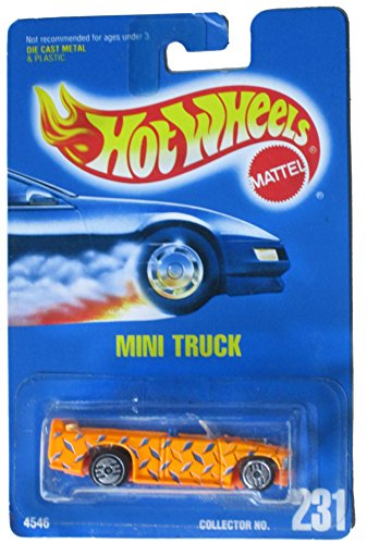 Hot Truck Wheels Mini (Hot Wheels 1991-231 Mini Truck All Blue Card 1:64 Scale)