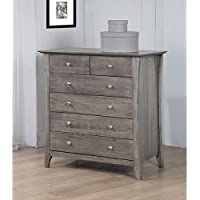 Vermont Stone Dirty White Burn 6 Drawer Chest