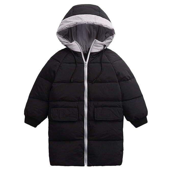 K-Youth Niñas Niños Abrigo de Algodón Invierno Grueso Abajo Chaqueta con Capucha Larga Jacket