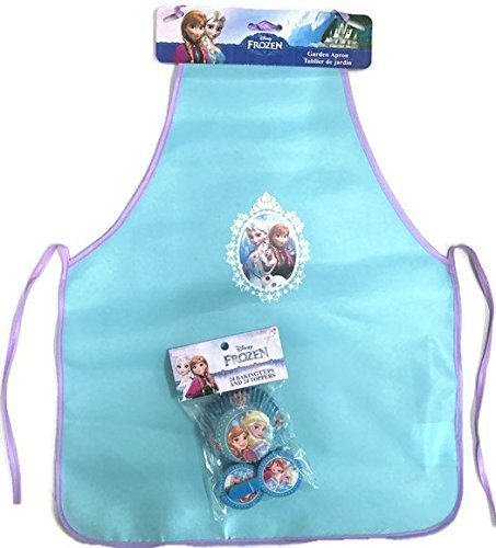 Disney Frozen Kitchen Apron Plus 24 Frozen Baking Cups and Toppers (Disney Cupcake Maker compare prices)