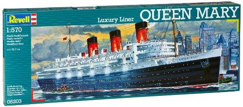 Revell 1:570 Queen Mary Luxury Liner Ship Model Kit Set (05203)