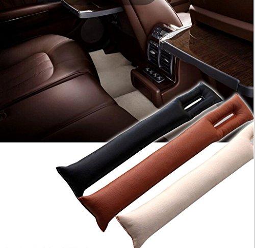 [Pesp 2pcs Pu Leather Vehicle Auto Car Seat Spacer Gap Filler Pad Soft Padding Interior Seat Hand Brake Gap Filler Pad (Black)] (Seat Filler)