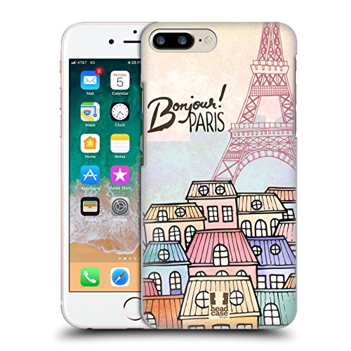 Head Case Designs Townhouses I Dream Of Paris Hard Back Case for Apple iPhone 7 Plus / 8 Plus (Case Townhouse)