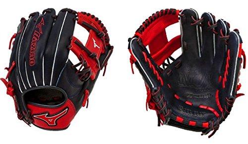 Mizuno GMVP1154SE4 MVP Prime SE Gloves, Navy/Red, Right Hand Throw (Mizuno Mvp Prime Se 11-5 Baseball Glove)