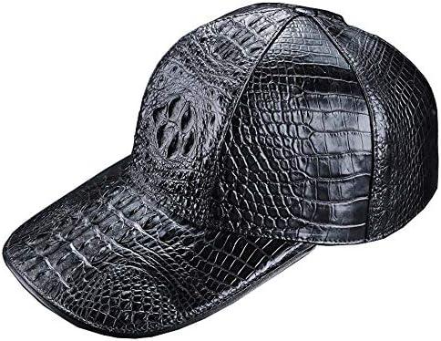 EEKUY Gorra de béisbol para Hombre, Sombrero de Piel de cocodrilo ...