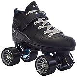 Black Pacer Mach-5 GTX500 Quad Speed Roller Skates (Mens 11)