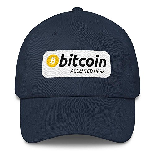 Bitcoin Accepted here Classic Cap Navy