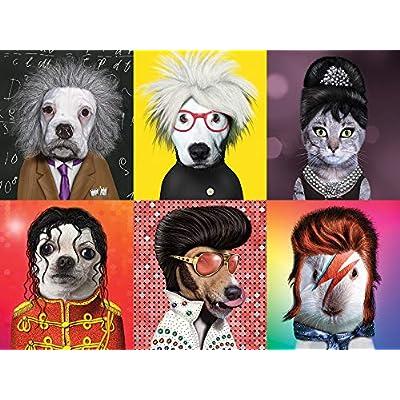 Ceaco Pet Rock - Famous Icons Puzzle (550 Piece): Toys & Games