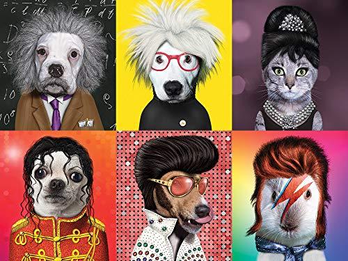 Ceaco Pet Rock - Famous Icons Puzzle (550 Piece)