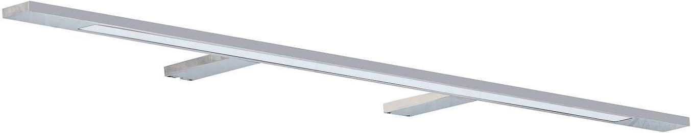 LED Spiegelleuchte 74cm 12W neutralwei/ß 230V aus Aluminium verchromt IP44 f/ür Bad 800lm Spiegellampe Spiegelschrank-Lampe Schrankleuchte Badezimmer Schminklicht