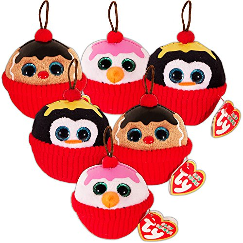 Ty Cupcake Party Favors Set -- 6 Ty Plush Beanie Cupcakes (Party Supplies, Decorations) -