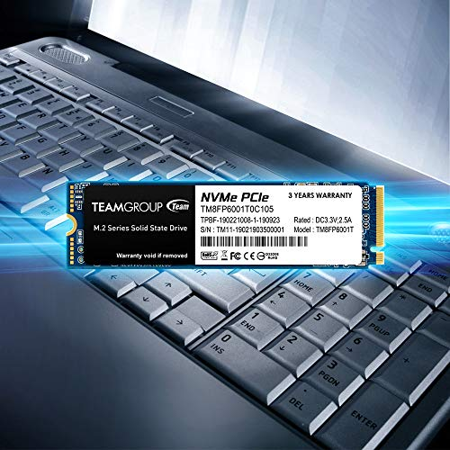 TEAMGROUP MP33 256GB NVMe PCIe Gen3x4 M.2 2280 Solid State Drive SSD TM8FP6256G0C101 (Read/Write Speed up to 1,600/1,000 MB/s)