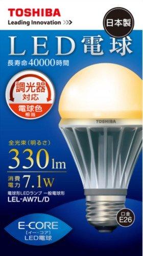TOSHIBA E,CORE(イー・コア) LED電球(調光器対応
