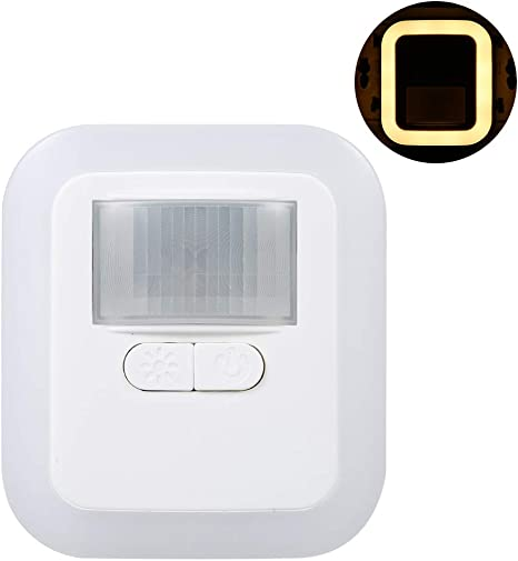 Amazon Com Ritioner Wall Night Lamp Ac110 240v Led Plug In Motion Sensor Light Adjust The Brightness And Sensing Lighting Time For Living Room Bedroom Kitchen Stairs Hallway Home Kitchen