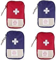 VEIREN 4 Pack Mini First Aid Kit Bag Portable Medicine Pills Drug Package Container Emergency Survival Kit Bag