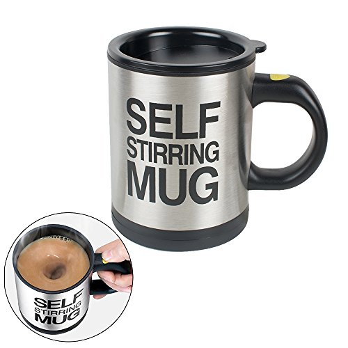 Zorvo 350ml Self Stirring Coffee Mug with Lid Automatic Mixing Cup with Lid Electric Self Mixing Cup for Office/Kitchen/Home/Travel