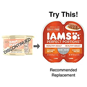 IAMS PURRFECT DELIGHTS Pate in Gravy Chicken-dulgence Entrée Canned Cat Food 3 oz. (Pack of 24) 115