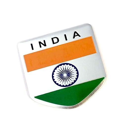S2s India Flag 3d Chrome Aluminium Metal Sticker Emblem Badge Logo