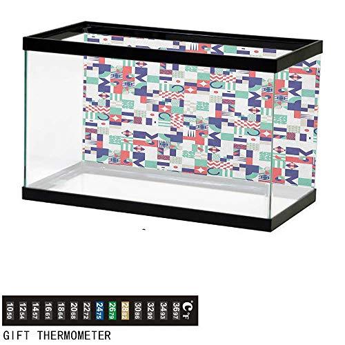 - Jinguizi Mid CenturyAquarium BackgroundRich Contemporary Mosaic of Funky and Pastel Shapes36 L X 24