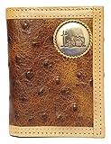 Custom Praying Cowboy Church Ostrich Print trifold wallet