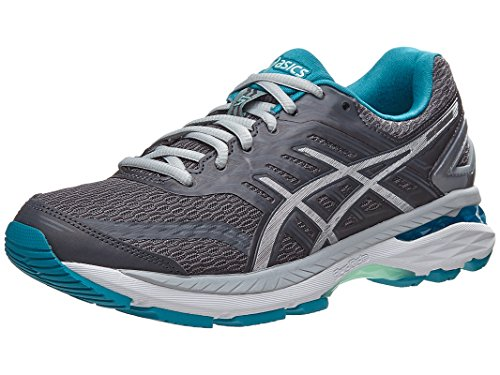 ASICS Women's GT-2000 5 Running-Shoes, Carbon/Silver/Arctic Aqua, 9 Medium US