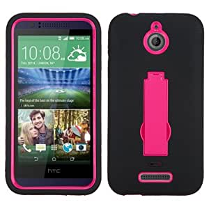 ASMYNA Hot Pink/Black Symbiosis Stand Protector Cover for HTC 510 (Desire 510)
