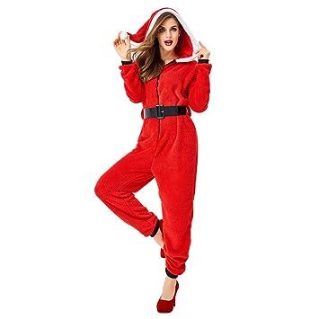 HaIIeed Traje De Navidad Adulto Femenino Rojo Navidad con ...