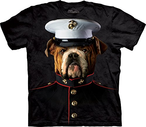 The Mountain Bulldog Marine T-Shirt, 3X-Large, Black Marines Mens Tee