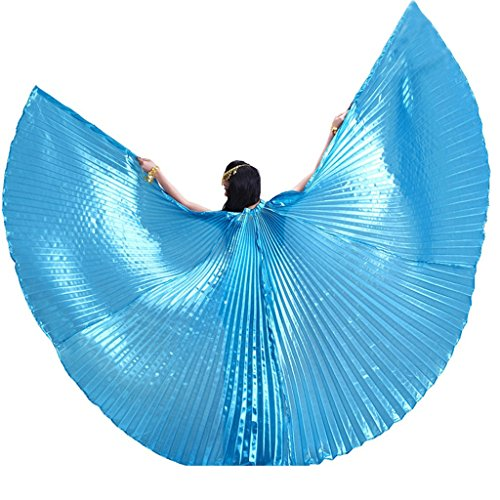Pilot-trade Women's Professional Belly Dance Costume Angle Isis Wings No Stick Sky ()
