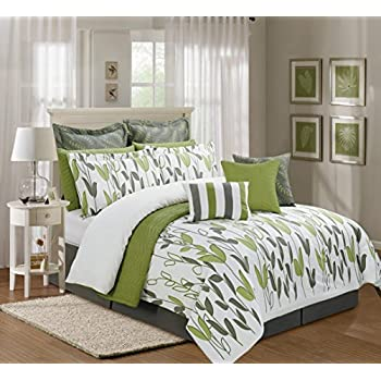 Greatest Amazon.com: 12 Pieces Luxury Sage Green, Grey and White vine Allen  YL95