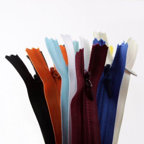 (20pcs 9 inch YKK assorted color invisible zippers-Made in USA-)