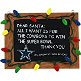 Dallas Cowboys Official NFL 3 inch x 4 inch Chalkboard Sign Christmas Ornament