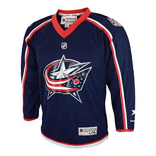 NHL Columbus Blue Jackets Boys Team Replica Jersey, One Size, Navy ()
