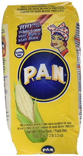 Harina PAN 6 PACK White Corn Meal Flour 6 x 1 Kg (Harina Pan)