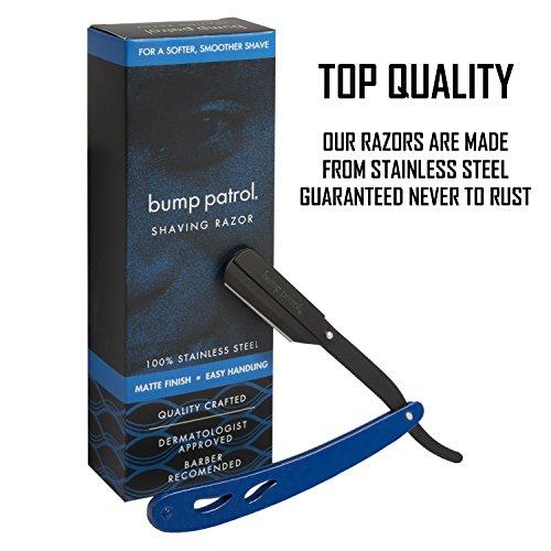 Bump Patrol Shaving Razor Stainless Steel Matte Finish Blue Pack of 2 by Bump Patrol