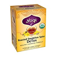 Yogi Tea Roasted Dandelion Spice Detox, 16 Count (Pack of 6)