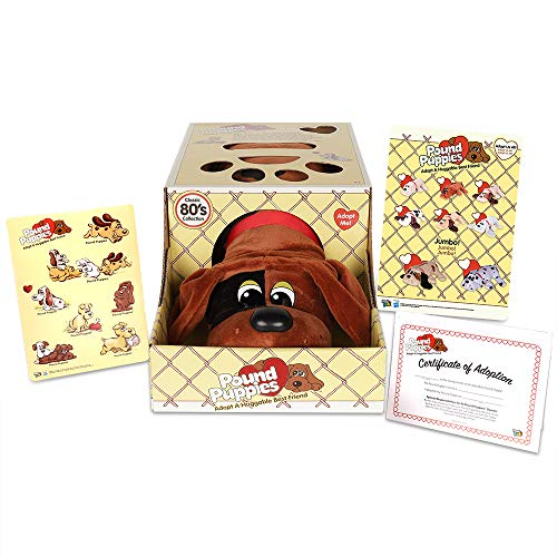 """Basic Fun Pound Puppies Classic Stuffed Animal Plush Toy - Great for Girls & Boys - 17"""" - Red with Black Spots"""