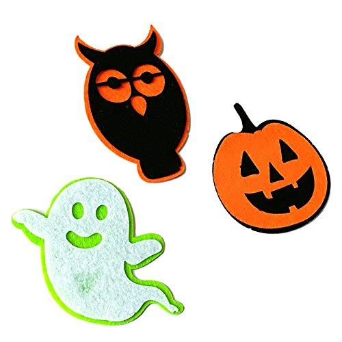 856store Clearance Sale 3Pcs/Set Halloween Decoration Cartoon Ghost Pumpkin Owl Applique Patch DIY Craft
